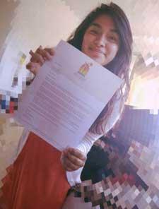 Yessica Vargas, scholarship recipient