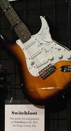 Guitar autographed by Switchfoot
